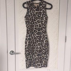 Michael Kors Cheetah Print Vicose dress